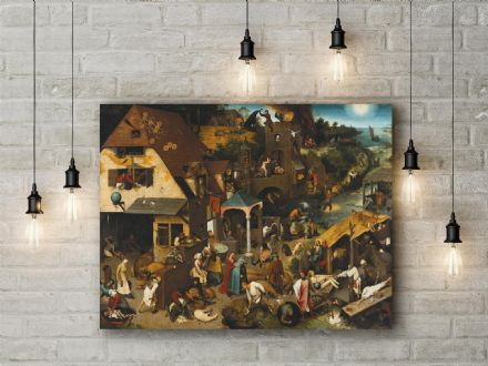 Pieter Bruegel: Netherlandish Proverbs. Fine Art Canvas.